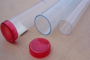 内条纹细齿交通指挥棒透明pc塑料管外径20-40mm