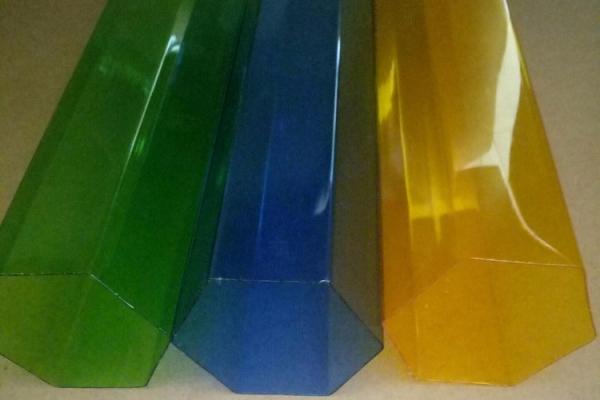 诚信厂家直销挤出63.5 89六边形园林工具喂鸟器PC彩色塑料管