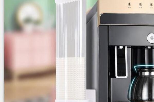 一次性杯架自动取杯器饮水机纸杯架免打孔防尘塑料杯不要器